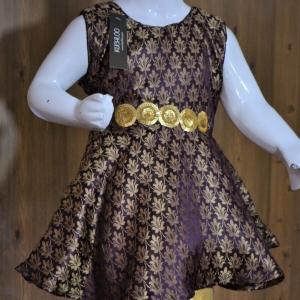 …Beautiful Jamawar Frock For Girls Article K110