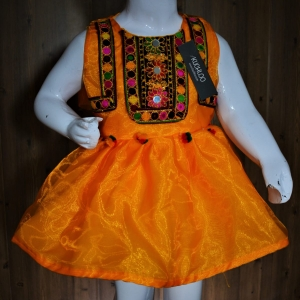 …..Beautiful Sindhi Style Tissue Frock For Girls Article K083