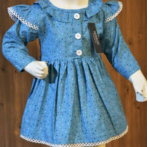 …..Beautiful Winter Cotton Frock For Girls Article KW054
