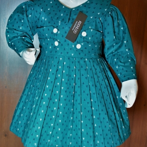 …….Beautiful Winter Cotton Frock For Girls Article KW057